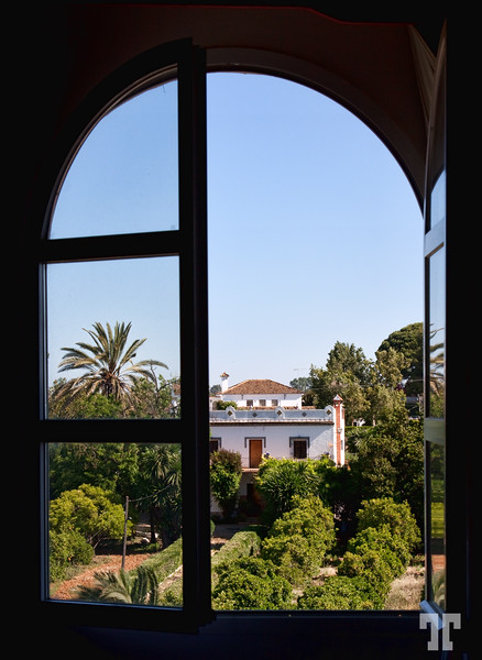 Hotel room window in Andalusia, Spain