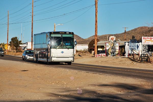 Tourbus from Las Vegas to Grand Canyon passing through Dolan Springs, Arizona