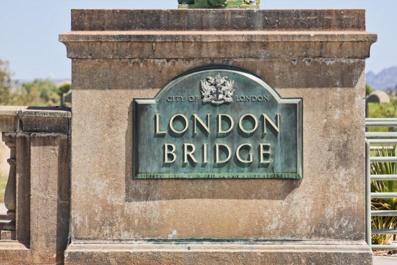 London Bridge - City of London sign