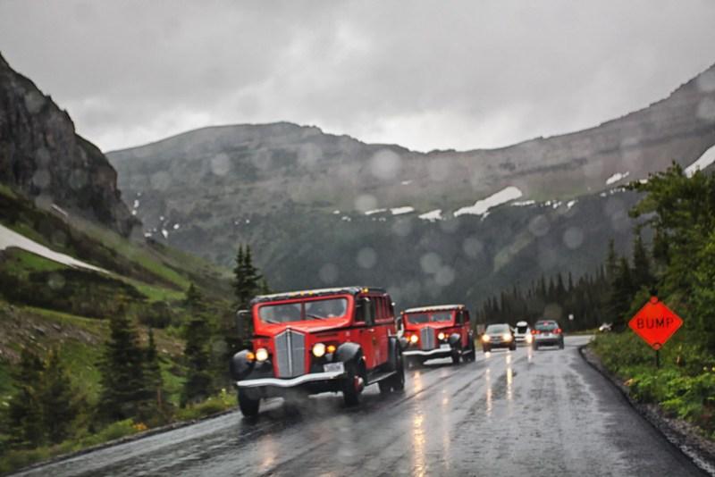 Driving in Glacier Park, Montana
