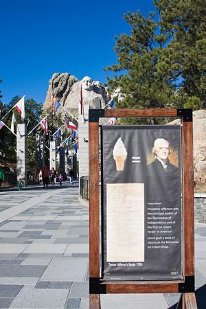 Tomas Jefferson's ice cream recipe at Rushmore monument