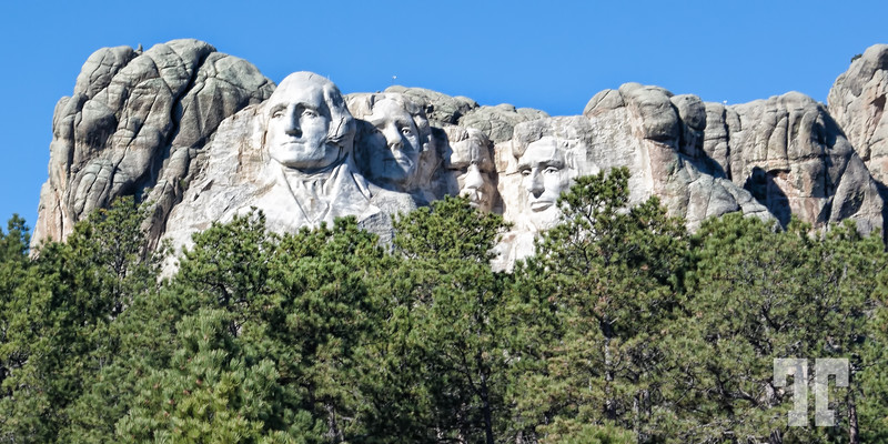Rushmore monument viewed from outside the park