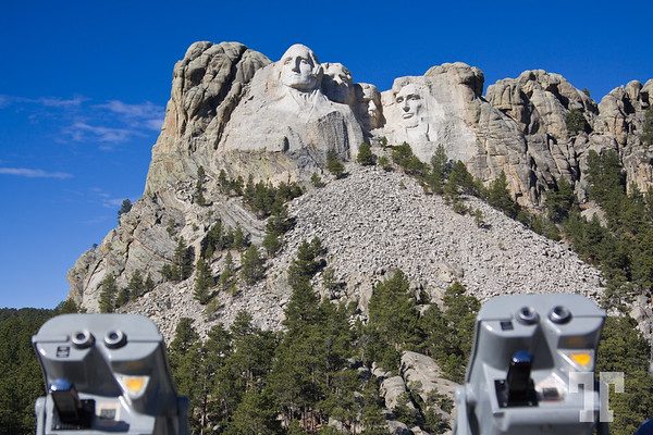 Binoculars at the Rushmore monument