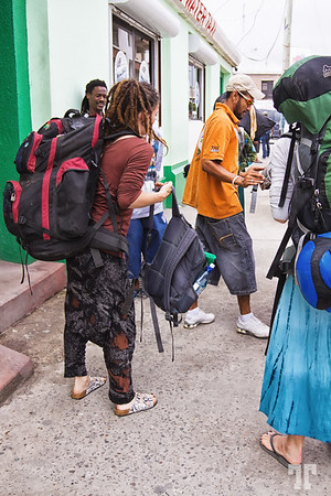 Tourists coming to Belize City