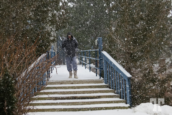 It snows in Collingwood, Ontario, Canada