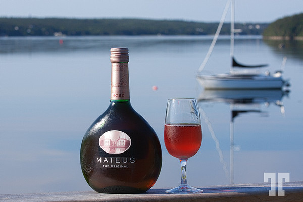 Mateus  Portuguesse wine with the view of the water