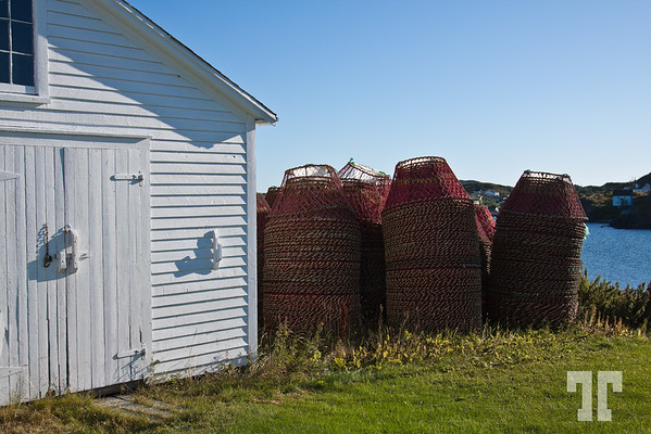 White fisherman barn in Twillingate, Newfoundland