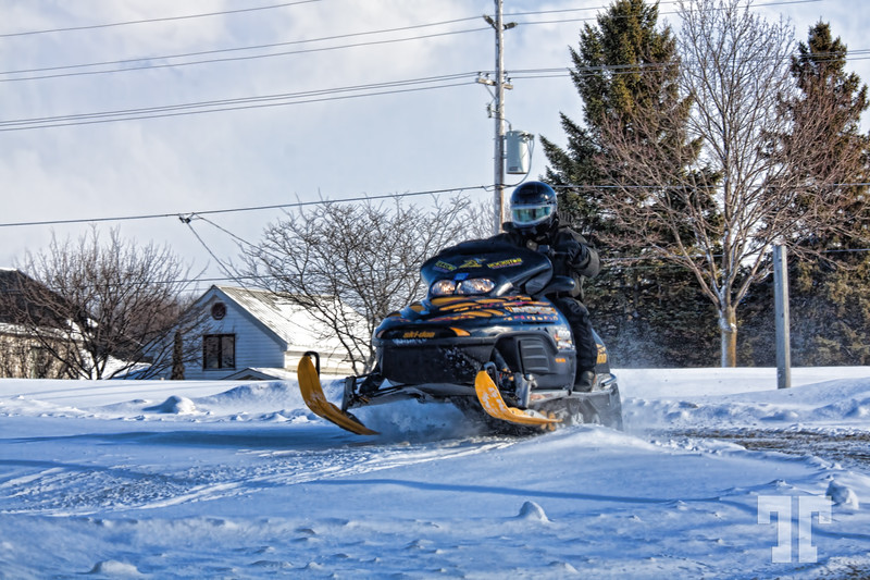 Snowmobile in Pentaguishene, Ontario