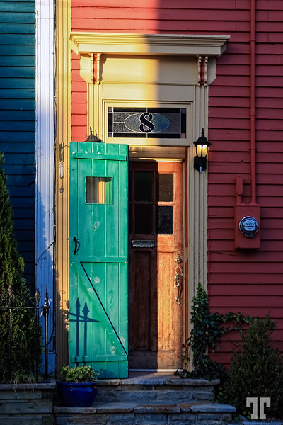 Colorful door in St. John's Newfoundland