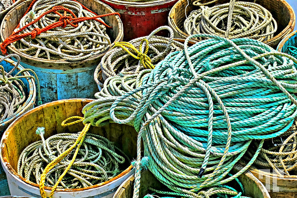 Fishing ropes in Saint Margret's Bay, Nova Scotia