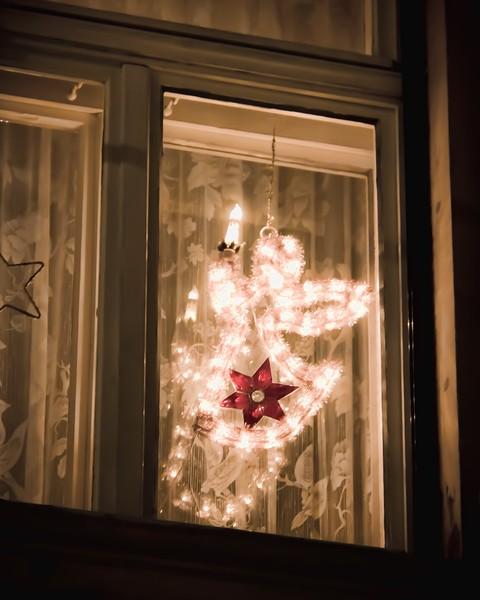 Angel in a window in Bamberg, Germany