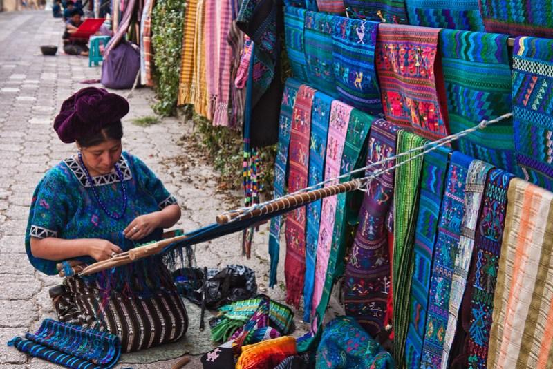 Craft woman in Panajajel, Guatemala