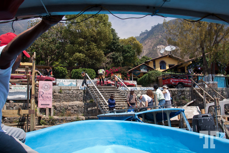 Boat on Lake Atitlan, Guatemala
