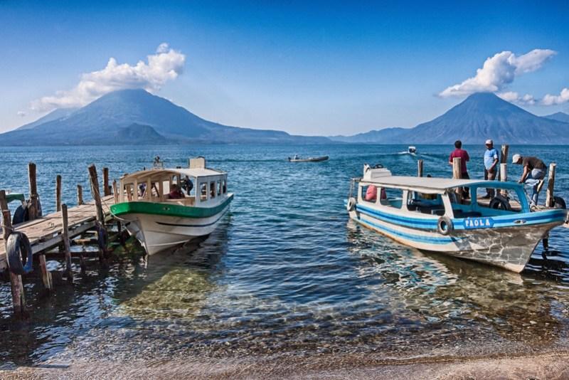 Atitlan Lake in Panajachel, Guatemala