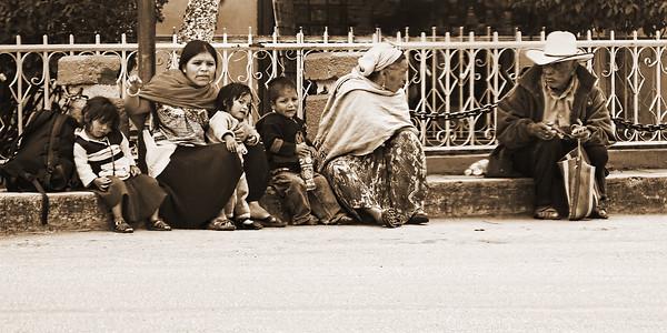 Santiago Guatemala people - monochrome image