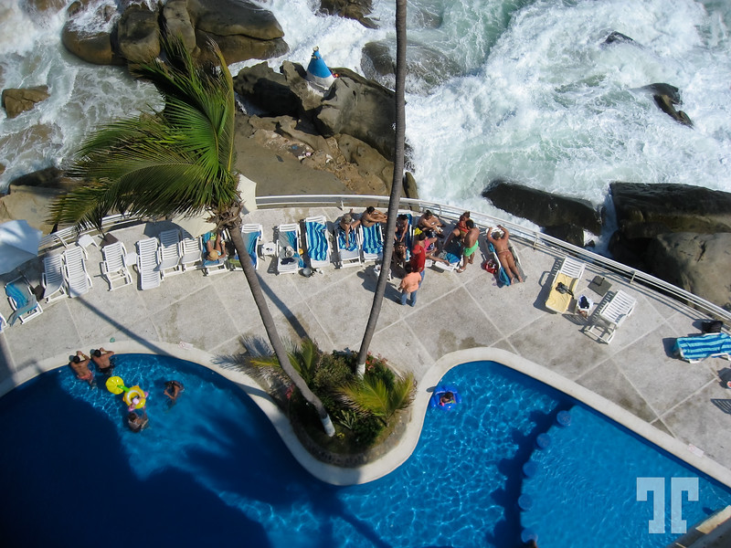 Hotel swimming pool in Acapulco