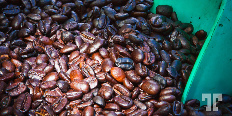 Freshly roasted coffee in Ajijic Mexico