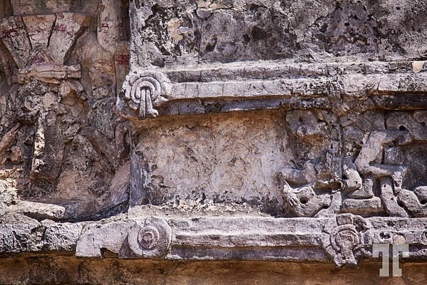 Stone carved artifacts dedicated to Venus at Tulum