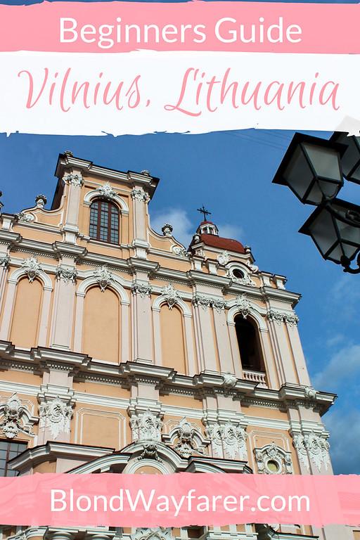 vilnius lithuania travel guide solo female travel wanderlust inspiration eastern europe vacation