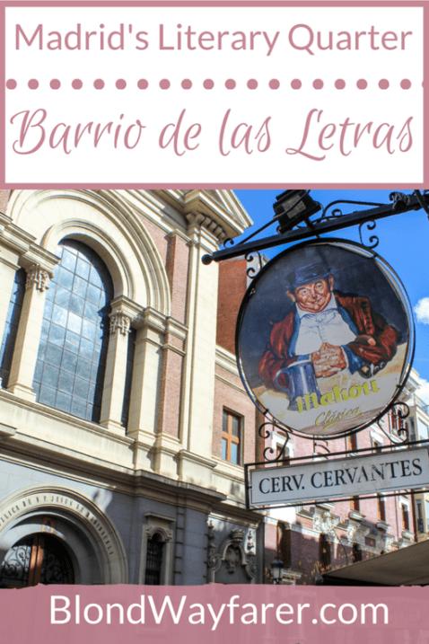 literary quarter madrid | barrio de las letras | visit madrid | madrid neighborhoods | solo female travel | literary travel | travel tips | travel europe