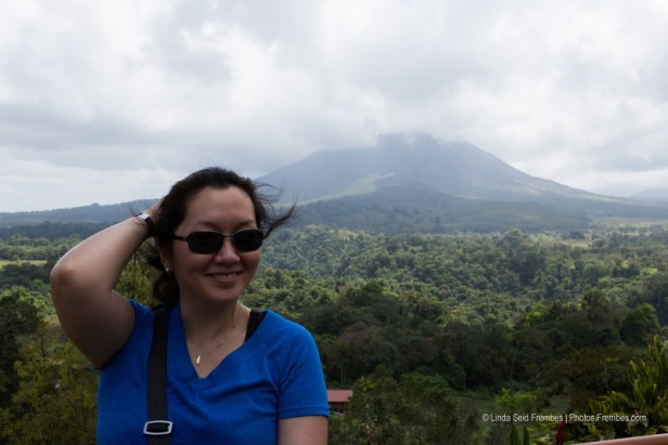 It was a bit windy after our tour at Arenal Hanging Bridges.