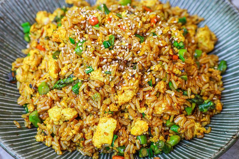 Plant-based Egg Fried Rice Recipe