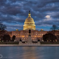 The Capitol by full Moon