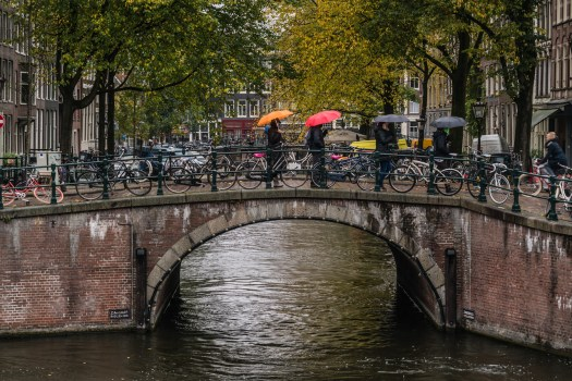 Bikes, Umbrellas and Canals
