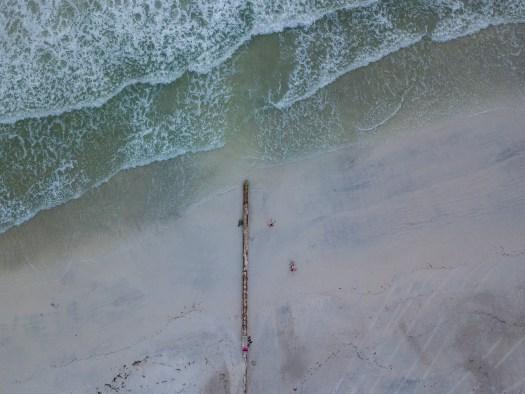 Overhead Shot of Coquina Beach