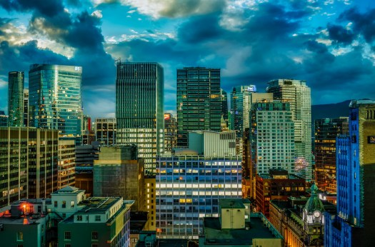 Composite of Downtown Vancouver