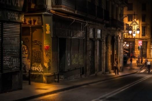 Barcelona Night Scene