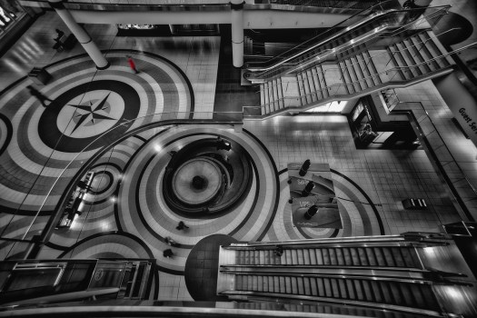 The Floor of Toronto's Eaton Centre