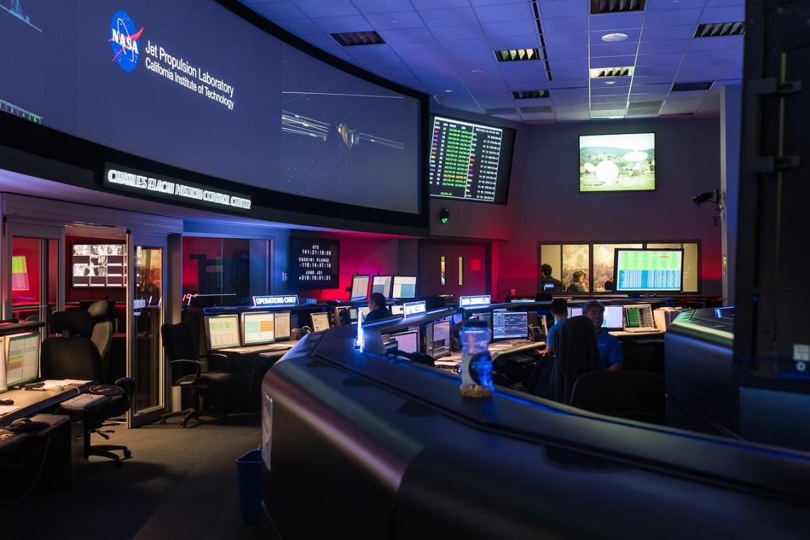 Mission Control at the Jet Propulsion Laboratory