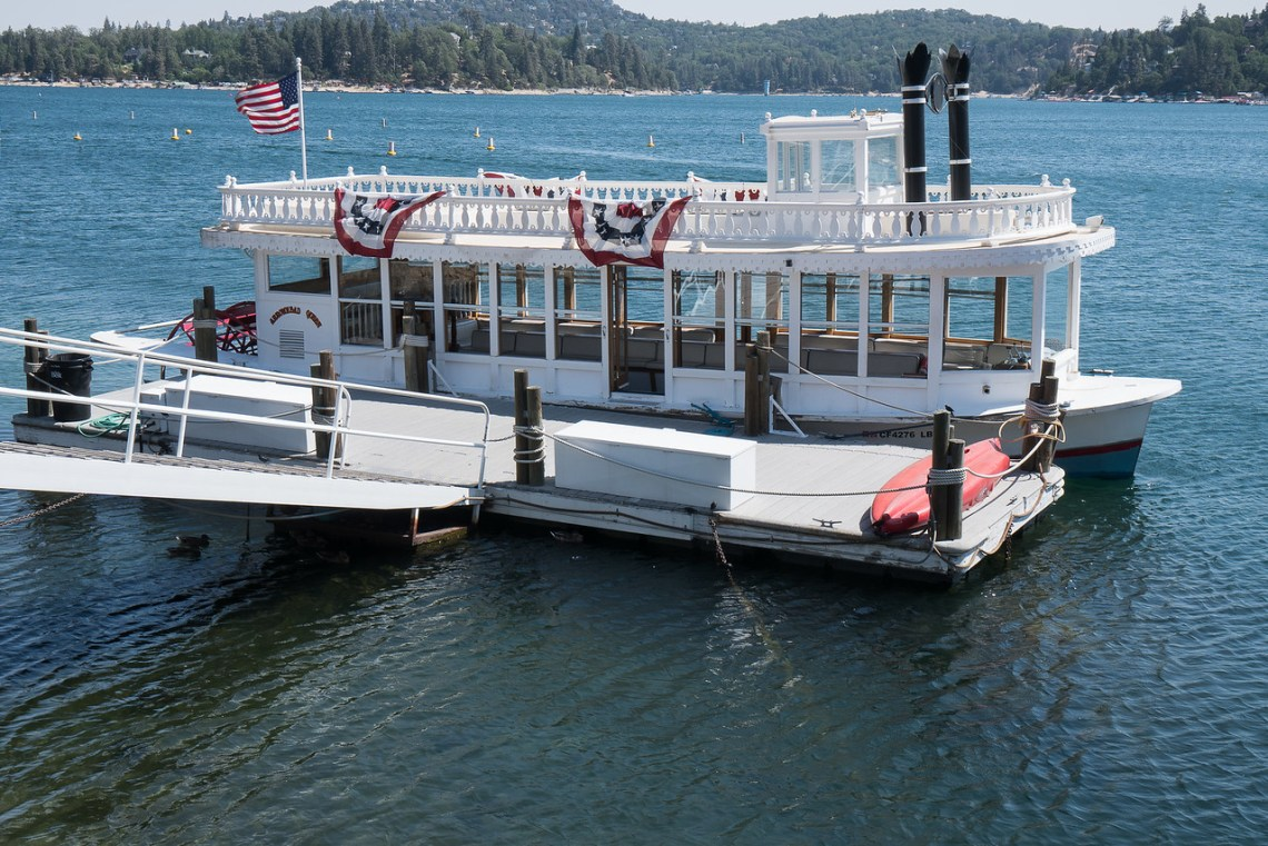 Small paddle-wheel boat, the Arrowhead Queen