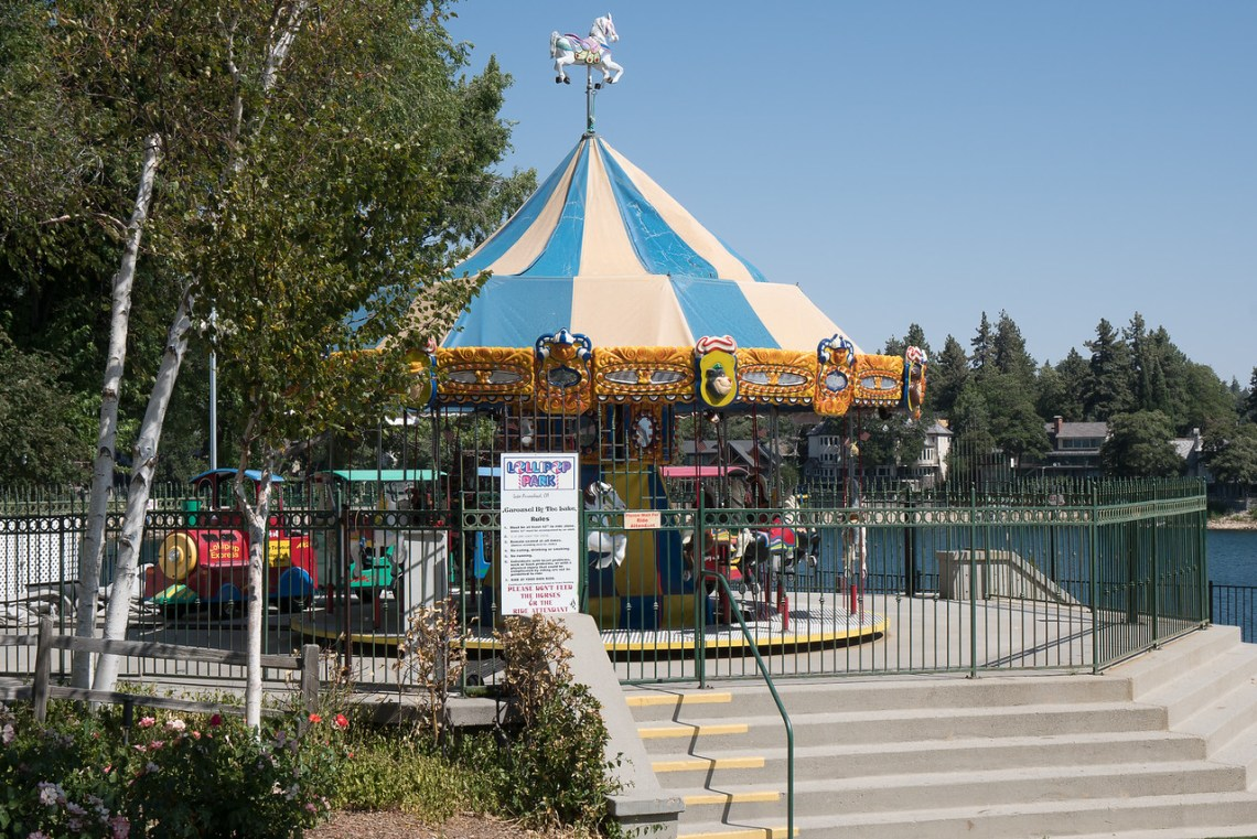 Carousel in Lollipop Park at Lake Arrowhead