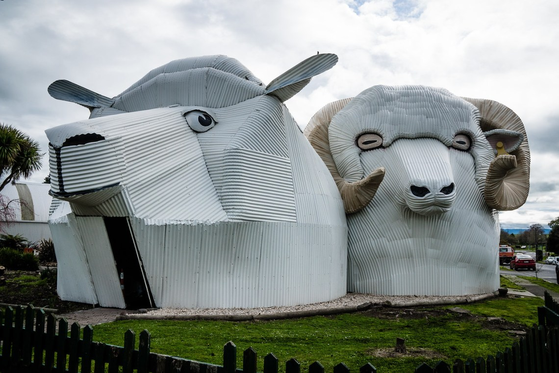 The Big Sheep and the Big Ram in Tirau