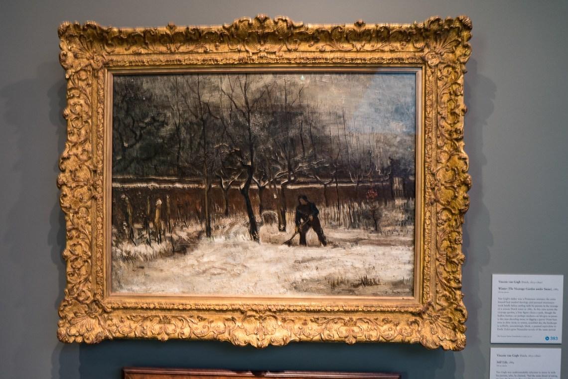 Van Gogh's Winter in the Vicarage Garden