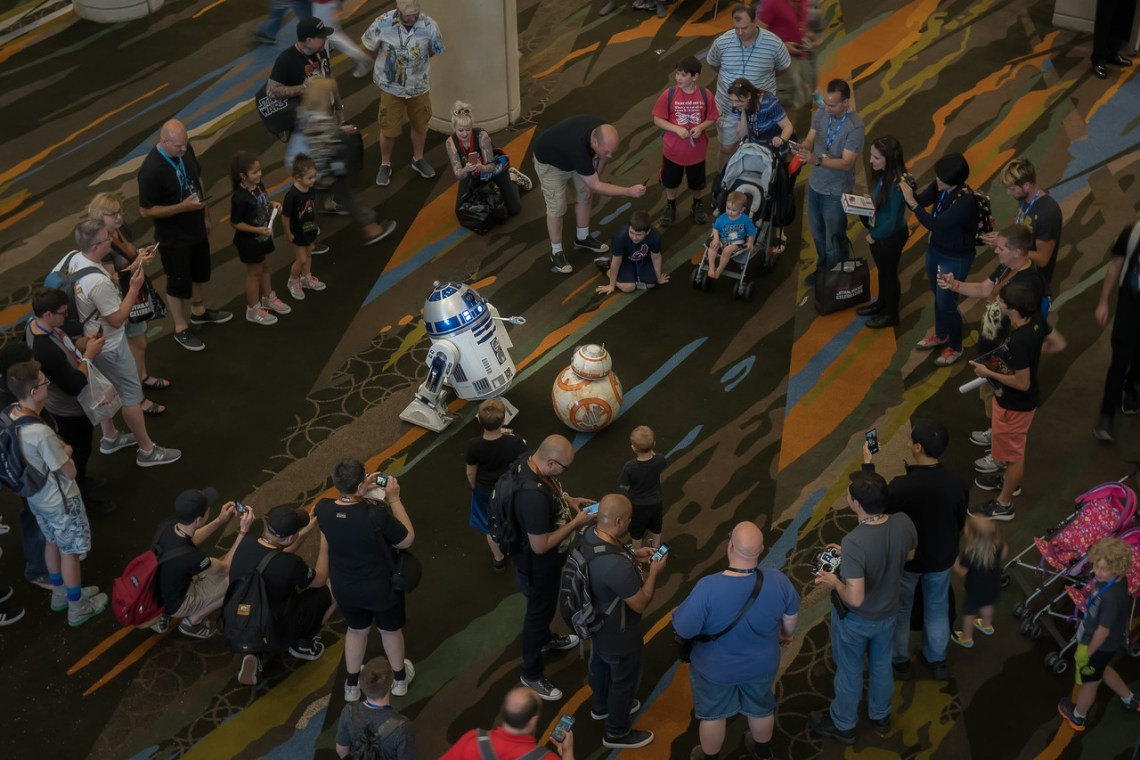 R2-D2 and BB-8 draw a crowd at Star Wars Celebration