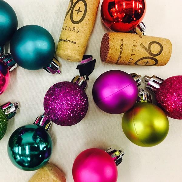 decorations at 90+ Cellars wine tasting