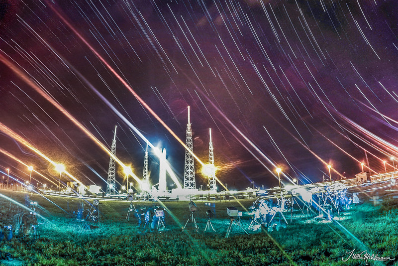 Star Trails from the Launch Pad