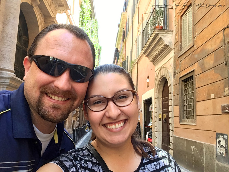 Selfie in the Streets of Rome, Italy