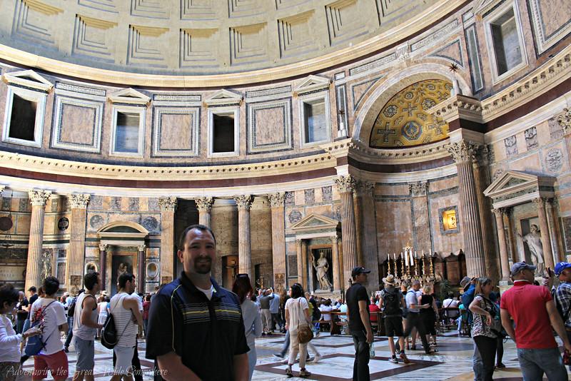 Dan Inside the Pantheon