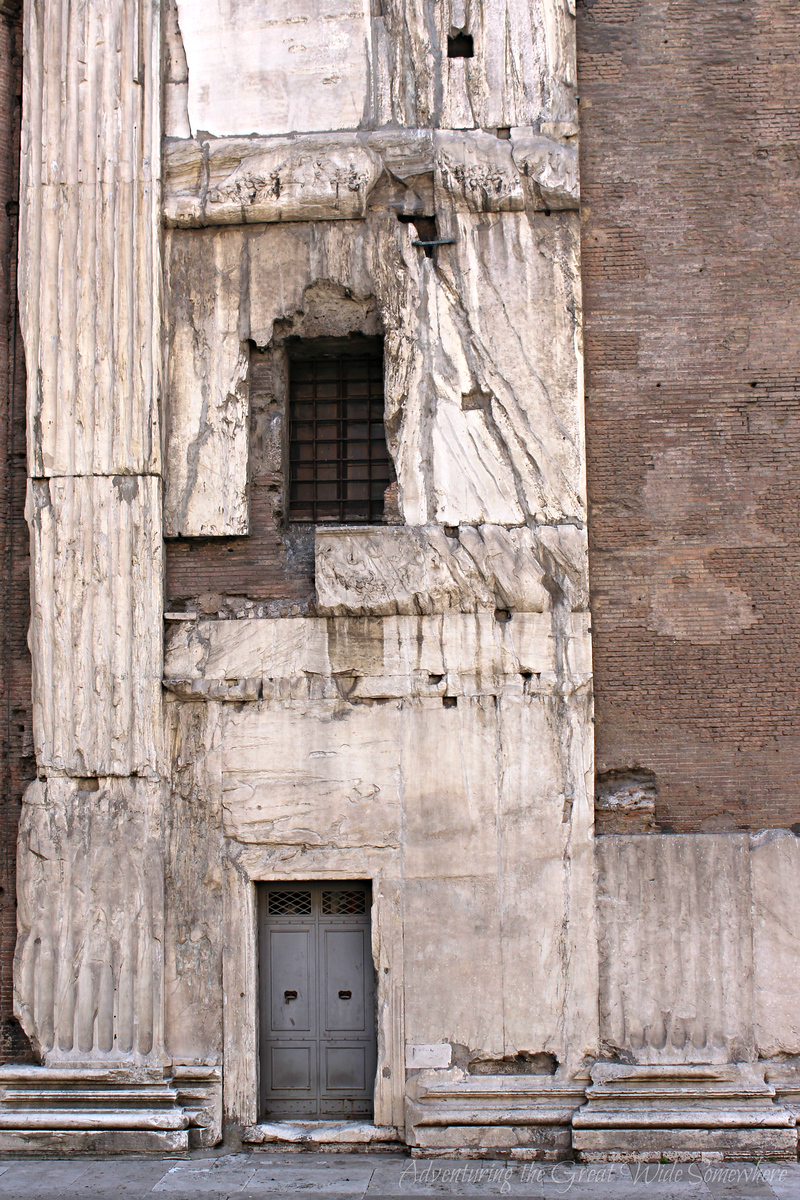 Varying Textures of the Pantheon in Rome, Italy