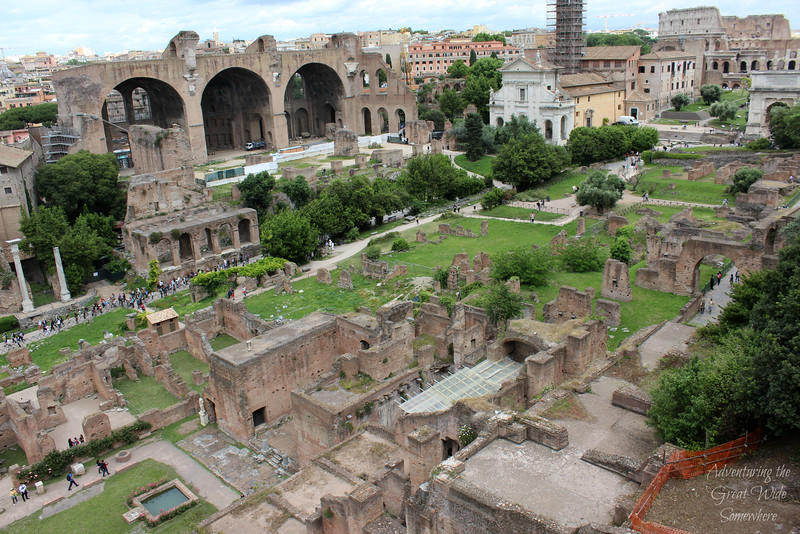 The Roman Forum seen from above.