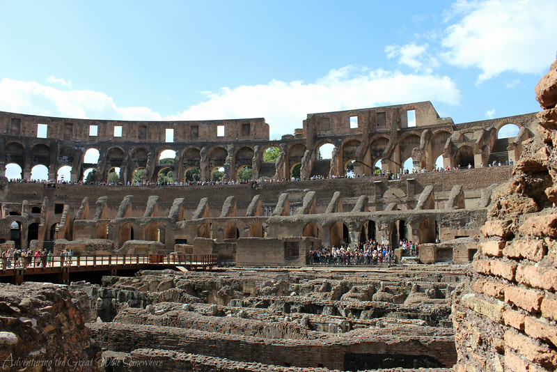 The interior of the Colosseum, a scene known around the world.