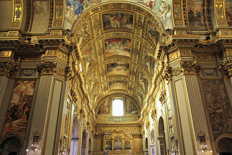 Stunning Gilded Ceilings to Rival the Sistine Chapel at the Church of Sant'Andrea della Valle in Rome