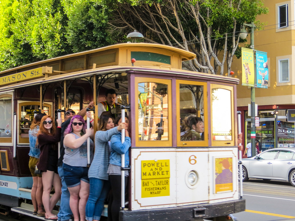 Riding the cable cars is one of the best things to do solo in San Francisco