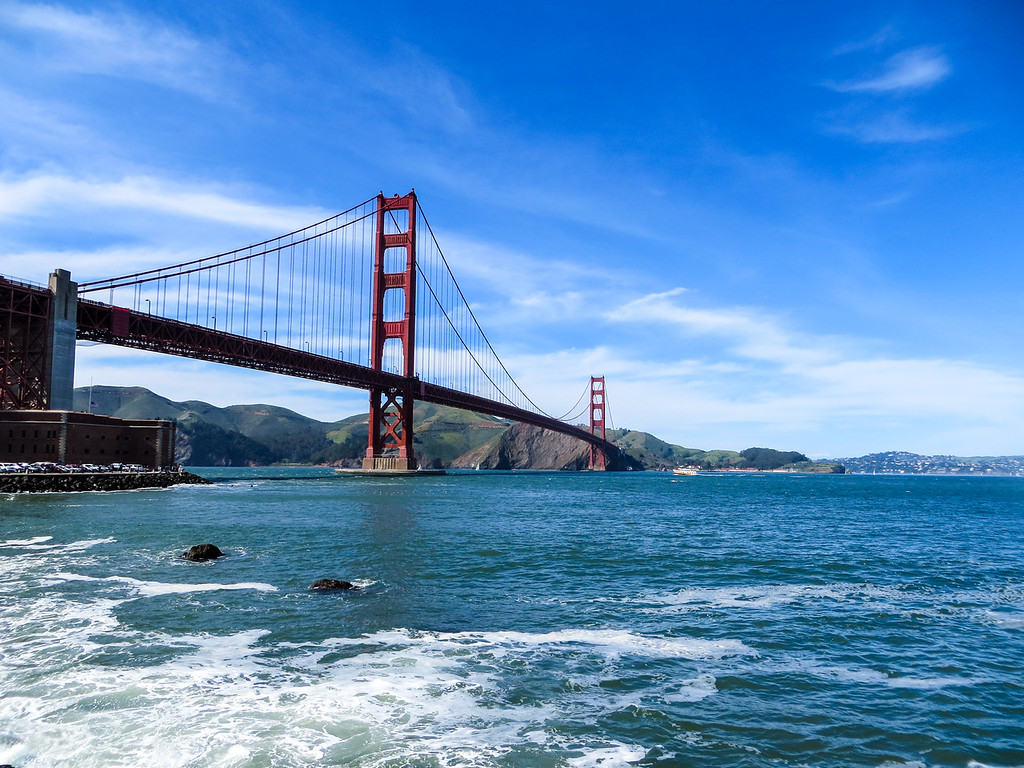 Walk on the Golden Gate Bridge, which is one of the best things to do alone in San Francisco.