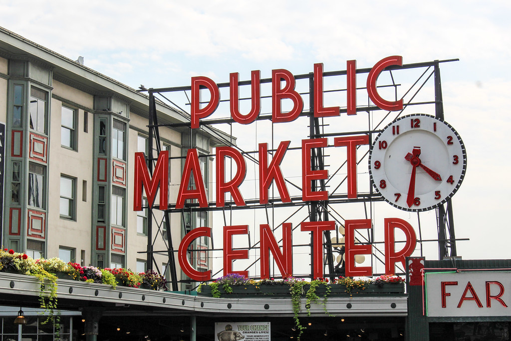enjoying pike market on a solo trip to seattle