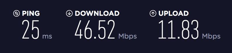 Airbnb Internet Speed Test